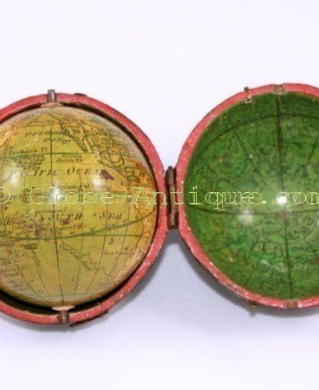 Terrestrial-pocket-globe-sign-Lane-dated-1811- London