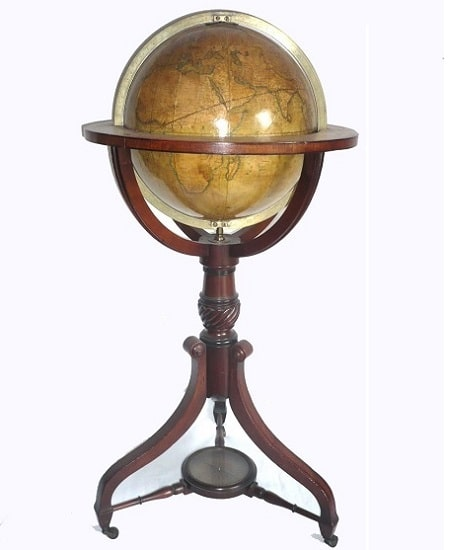 library floor globe signed malby