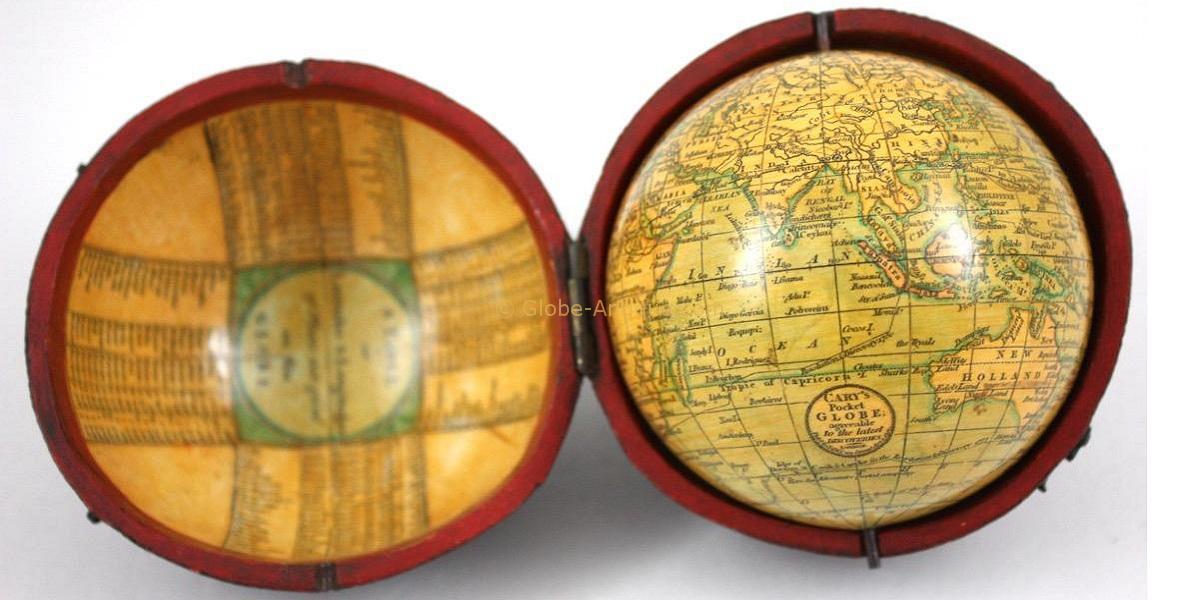 pocket globe signed cary